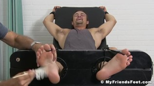 First-timer homo Charlie has his toes and assets kittle tormented