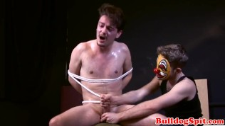 strapped stud will get his huge manhood beated