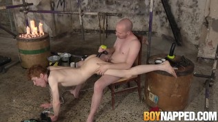 Red-haired lad rump predominated by dom after toes worshipping
