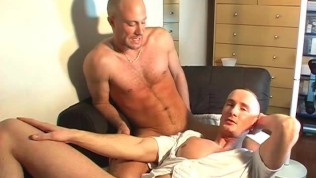 My str8 neighbour made a pornography: witness his massive man sausage will get sucked by a man!