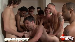 Diablo will get his very first condom-free Mass ejaculation gang-bang – Mass ejaculation Boys