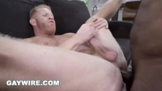 GAYWIRE – Large Black Trunk Pounding A Muscular Milky Bum