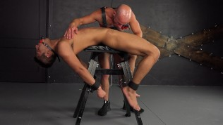Uncircumcised Latino Lad Topped By 2 Guys & Spanked – BDSM